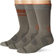 Columbia Balance Point Cotton Crew Sock 3 Pair, M10-13, Charcoal