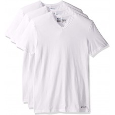 Columbia 3-Pack V Neck Classic Fit T Shirts White Size Small