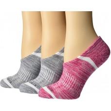 Columbia  Womens No Show Socks 3 Pair, Cactus Pin/Grey, Womens 4-10