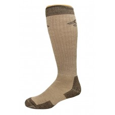 Ducks Unlimited All Season Merino Wool Boot Socks, 1 Pair, Brown, Large, W 9-12 / M 9-13