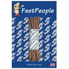 FeetPeople High Quality Boot/Hiker Laces, Brown/Natural