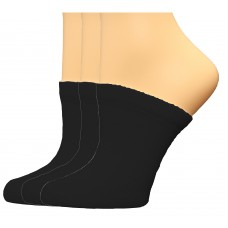 FeetPeople Premium Clog Socks 3 Pair, Black