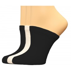 FeetPeople Premium Clog Socks 3 Pair, Black/Black/White