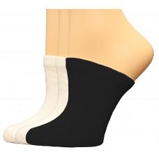 FeetPeople Premium Clog Socks 3 Pair, White/White/Black