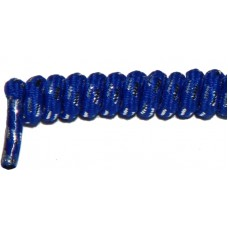 FeetPeople Curly Laces, Blue/Silver