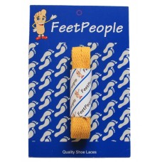 FeetPeople Flat Laces For Boots And Shoes, Gold