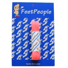 FeetPeople Flat Laces For Boots And Shoes, Neon Pink