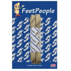 FeetPeople Strong Flat Laces, Tan Reinforced w/ Black Kevlar