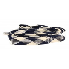FeetPeople High Quality Fat Laces For Boots And Shoes, Black/White Argyle