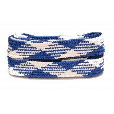 FeetPeople High Quality Fat Laces For Boots And Shoes, Navy/White Argyle