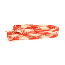 FeetPeople High Quality Fat Laces For Boots And Shoes, Burnt Orange/White Argyle