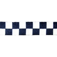FootGalaxy Black and White Checkered Printed Shoe Laces