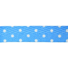 FootGalaxy Blue with White Dot Printed Shoe Laces