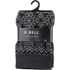 K. Bell Aztec Print Fleece Leggings - S/M, Black, Size S/M, 1 Pair