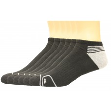 Lee Men's No Show Antimicrobial & Odor Control Socks 6 Pair, Black, Men's 6-12