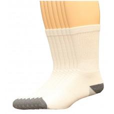 Lee Men's Crew Sport Socks 7 Pair, White, Men's 6-12
