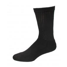 Medipeds Coolmax Cotton Half Cushion Crew Socks 2 Pair, Black, W7-10