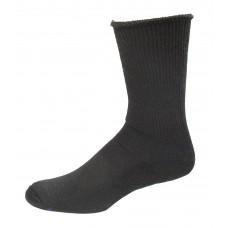 Medipeds Coolmax Cotton Half Cushion Extra Wide Crew Socks 2 Pair, Black, M9-12