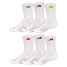 NB Core Cotton Crew Socks, Medium, White, 6 Pair