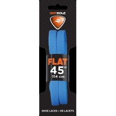 Sof Sole Athletic Flat Shoe Lace (Blue, 45-Inch)