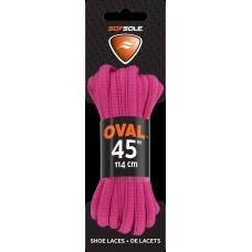 Sof Sole Athletic Oval Shoe Lace (Fuchsia, 45-Inch)