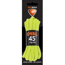 Sof Sole Athletic Oval Shoe Lace, Neon Yellow, 45-Inch
