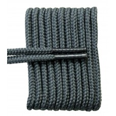 FeetPeople High Quality Round Laces For Boots And Shoes, Grey