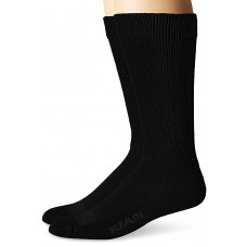 Top Flite Non-Binding Ultra-Dri Crew Socks, Black, (L) W 9-12 / M 9-13, 2 Pair