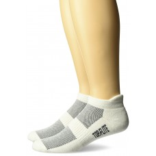 Top Flite Cotton Tab Socks, White, (L) W 9-12 / M 9-13, 2 Pair