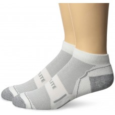 Top Flite Half Cushion Low Cut Socks, White, (L) W 9-12 / M 9-13, 2 Pair