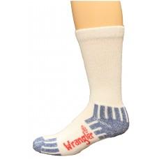 Riggs by Wrangler Men's Ultra-Dri Medium Weight Work Sock 4 Pair, White, M 8.5-10.5